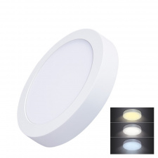 LED mini panel CCT, prisazený, 18W, 1530lm, 3000K, 4000K, 6000K, okrúhly