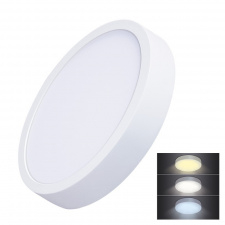 LED mini panel CCT, prisazený, 24W, 1800lm, 3000K, 4000K, 6000K, okrúhly